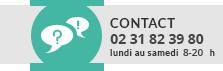 Contact au 02 31 35 36 35 du lundi au samedi de 10h à 19h